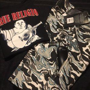 NWT Men's True Religion Shorts & Shirts